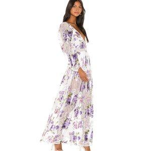 For Love & Lemons wildflower maxi dress